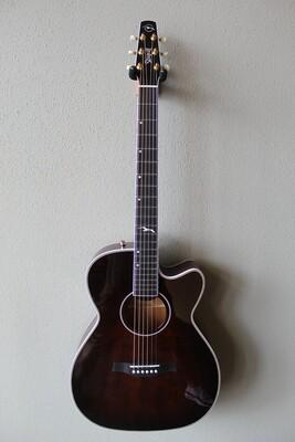 Seagull Artist Mosaic Cutaway CH EQ Acoustic/Electric Guitar with Gig Bag - Bourbon Burst