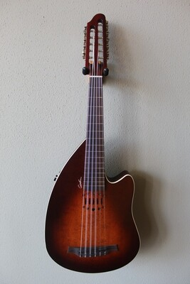 Godin Inuk Encore Steel String Antique Burst SG - 11 String Guitar