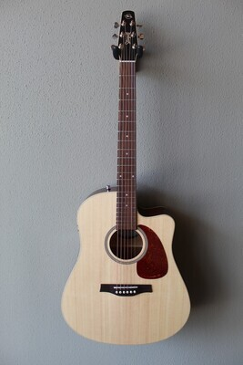 Seagull Coastline Slim CW Spruce Top QIT Acoustic/Electric Guitar with Gig Bag - B Stock