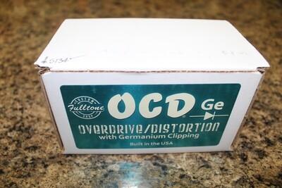 Used Fulltone Custom Shop OCD-Ge Germanium Obsessive Compulsive Drive Guitar Pedal
