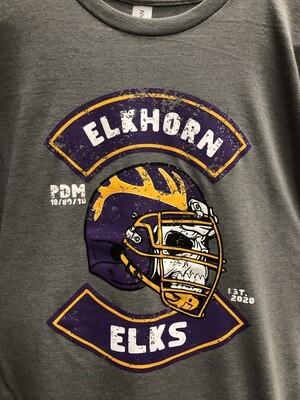 PDM 10/80/10 Elkhorn Football T-Shirt (Gray)