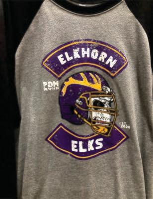 PDM 10/80/10 Elkhorn Football 3/4 Sleeve (Gray/Black)