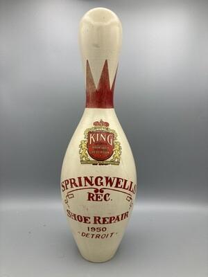 King Brunswick Red Crown Bowling Pin