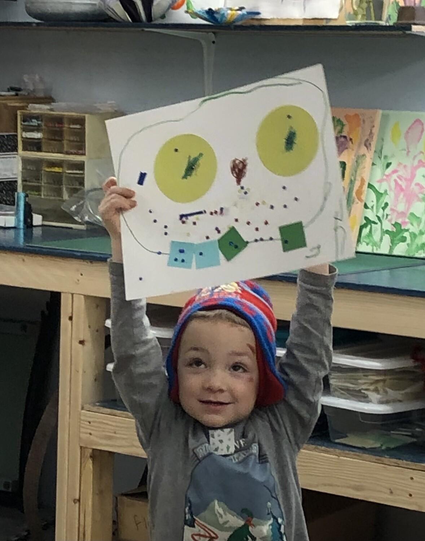 Kids art class 9/25/21