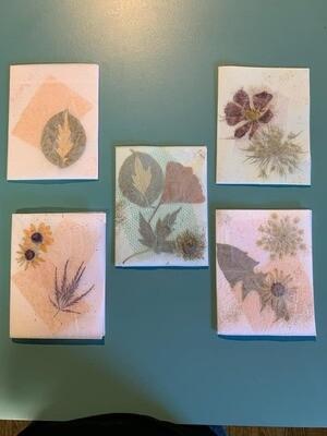 Garden Flower Keepsake Notecard class 10/8/21
