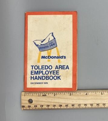 1976 Employee Handbook McDonalds Toledo
