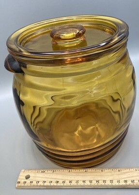 Amber Extra Large Glass Cookie Jar