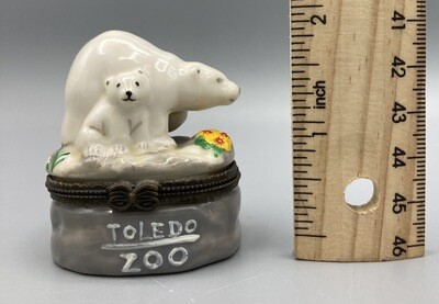 Toledo Zoo Trinket Box Polar Bear