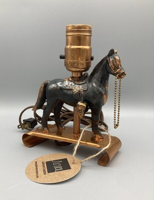 Copper Horse Lamp