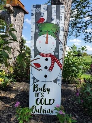 Snowman Porch Leaner 11/6/21