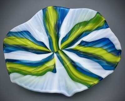 Glass Fused Pattern Bar Design Bowl by Jocy