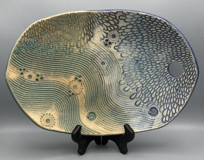 Joan Soldenwagner Blue Wave Platter