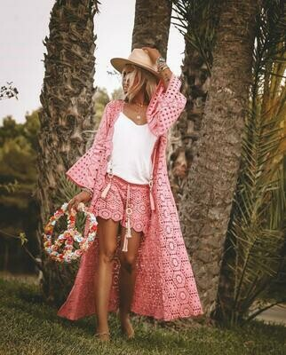 Kimono Crochet Pink