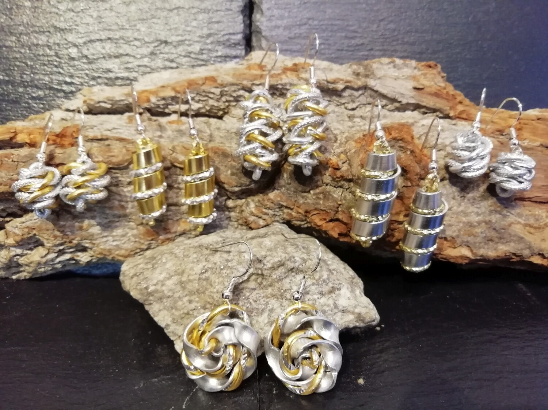 Earrings silver / gold - Handmade  by Corinna Kirchhof