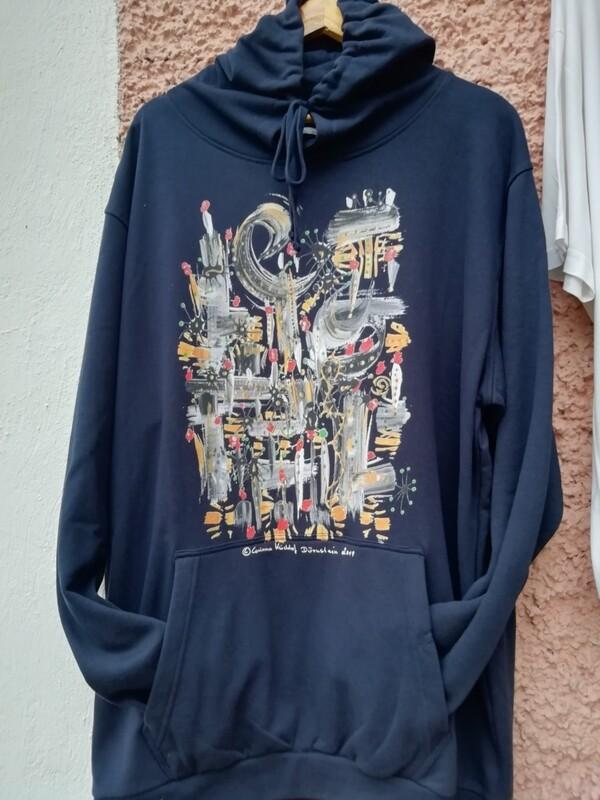 Hooded Sweatshirt dark navy designed by Corinna Kirchhof - Design