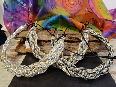 """Necklaces """"Stronger"""" silver / gold / grey / black - Handmade  by Corinna Kirchhof"""