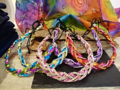 Necklaces mixed colors braided - Handmade  by Corinna Kirchhof