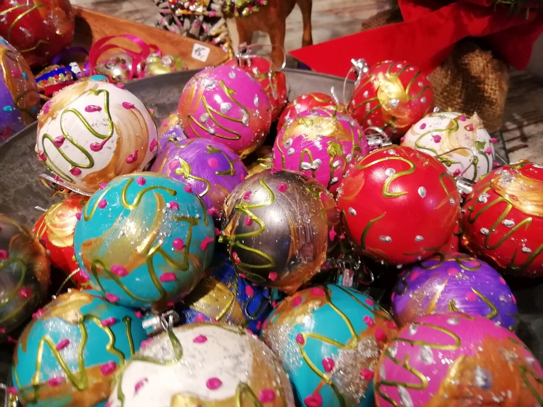Christmas Tree Ornaments /  Balls - Hand painted by Corinna Kirchhof