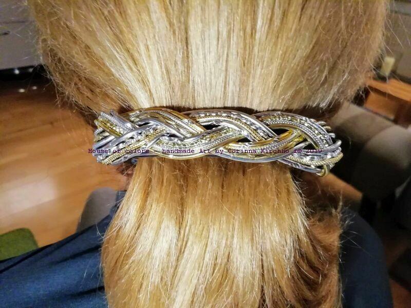 Hairclips silver / gold big - Handmade by Corinna Kirchhof