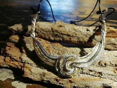 """Necklaces """"The Knot"""" silver / gold  or multicolor - Handmade  by Corinna Kirchhof"""