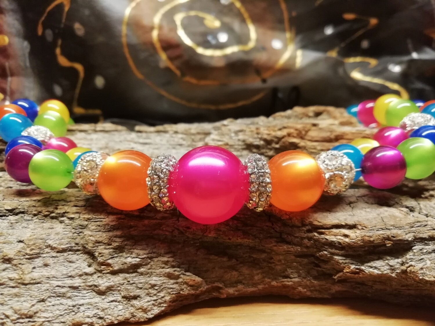 Necklaces Multicolor  -  with different colors and sizes of pearls and beads - Handmade  by Corinna Kirchhof