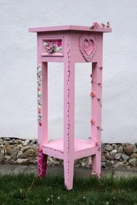 Kleinmöbel Telefon-Tischli rosa