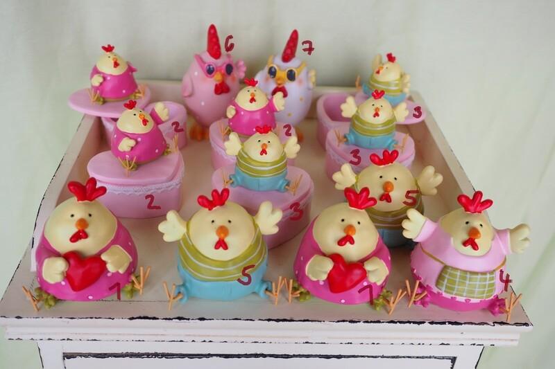 Aufsteller-Hennen