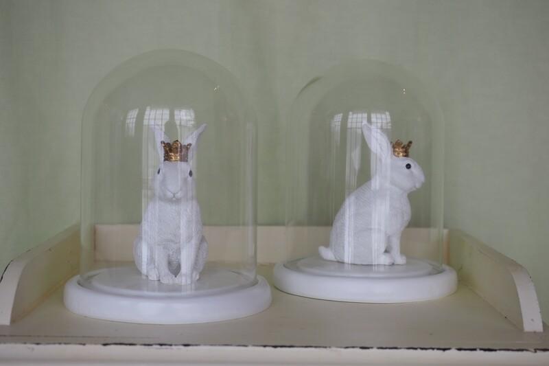Hase in Glashaube