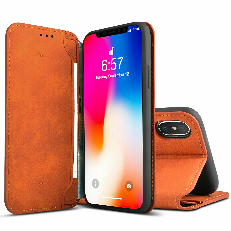 iPhone XS / X Ledertasche Case Hülle Handytasche