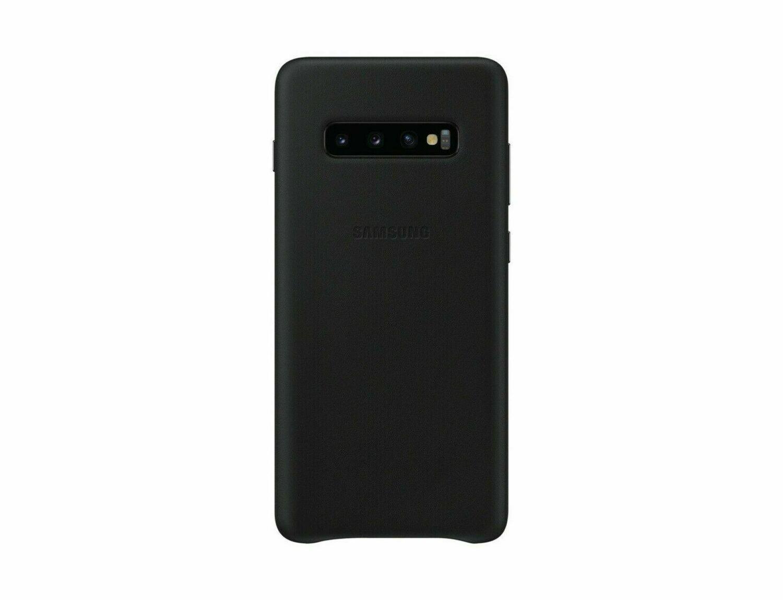 Original Samsung Galaxy S10 Leather Cover Case Leder Hülle Schwarz