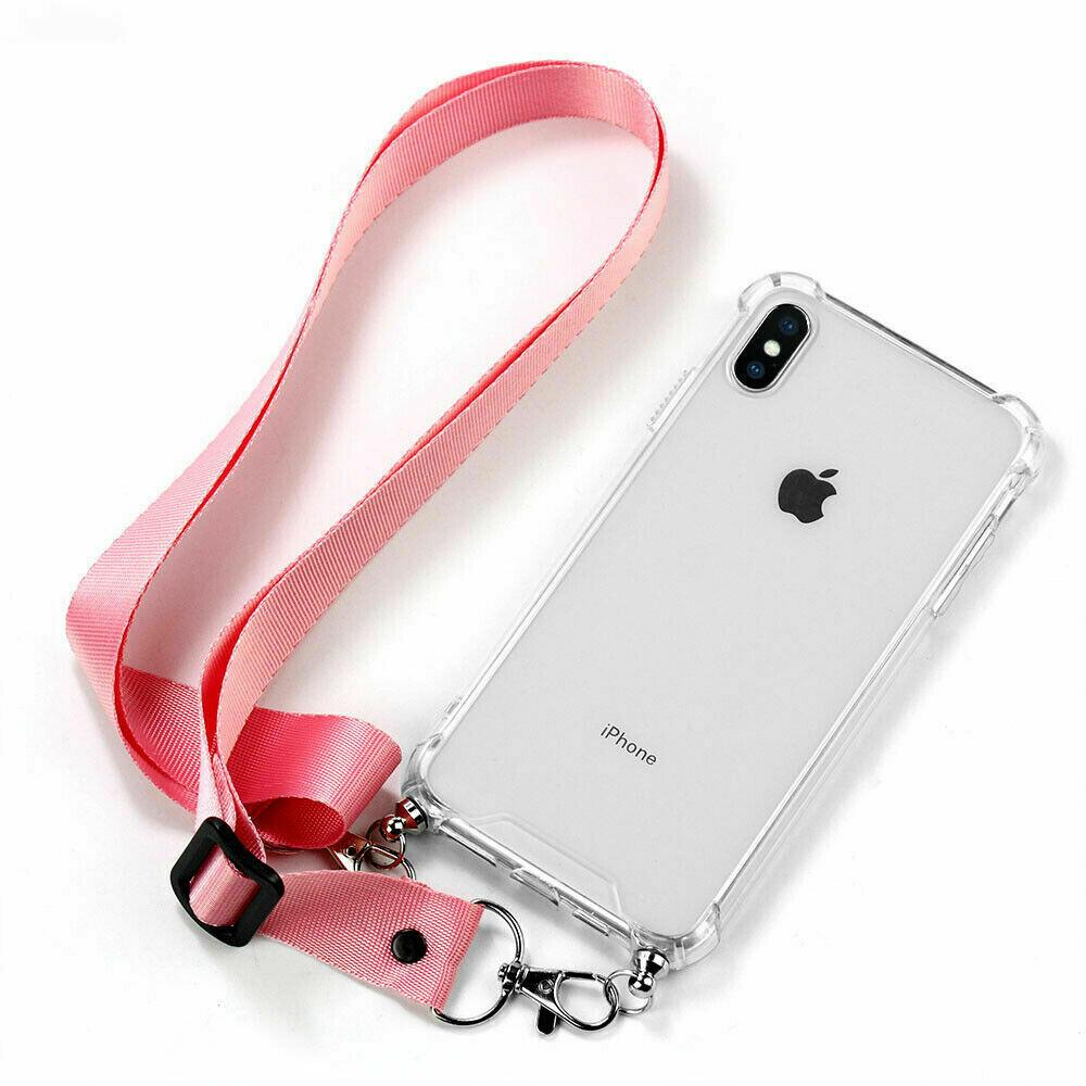 Handykette für iPhone X XS Transparente Halskette