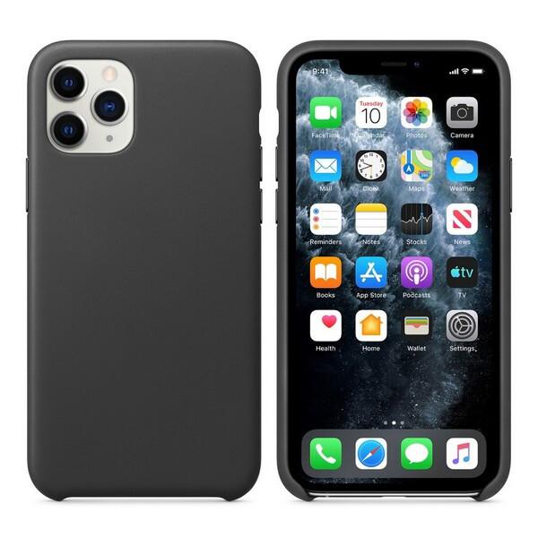 iPhone 11 Pro Max Alcantara Schwarz Schutzhülle Cover Case
