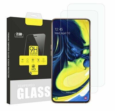 2x Samsung Galaxy A80 Panzerglas Displayschutzglas