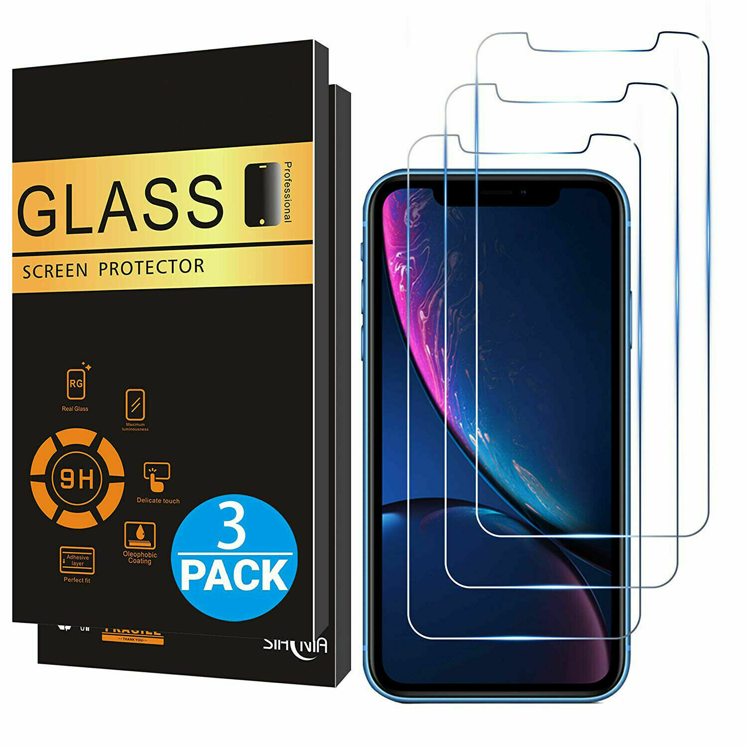 3x iPhone 11 Pro Max Displayschutz 9H Panzerglas