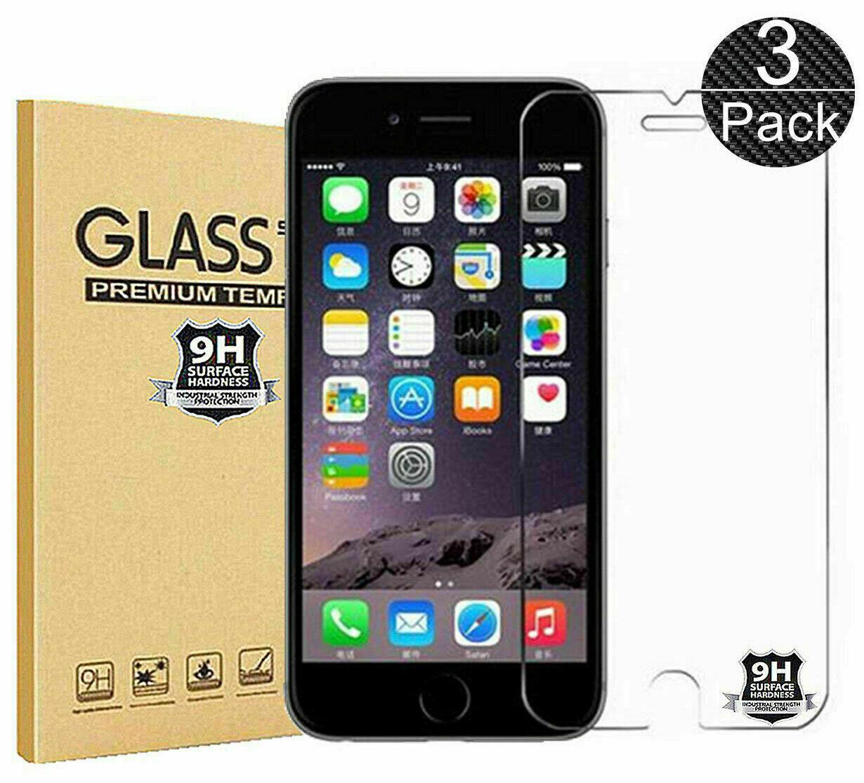 3x iPhone 8 iPhone 7 Panzerglas 9H
