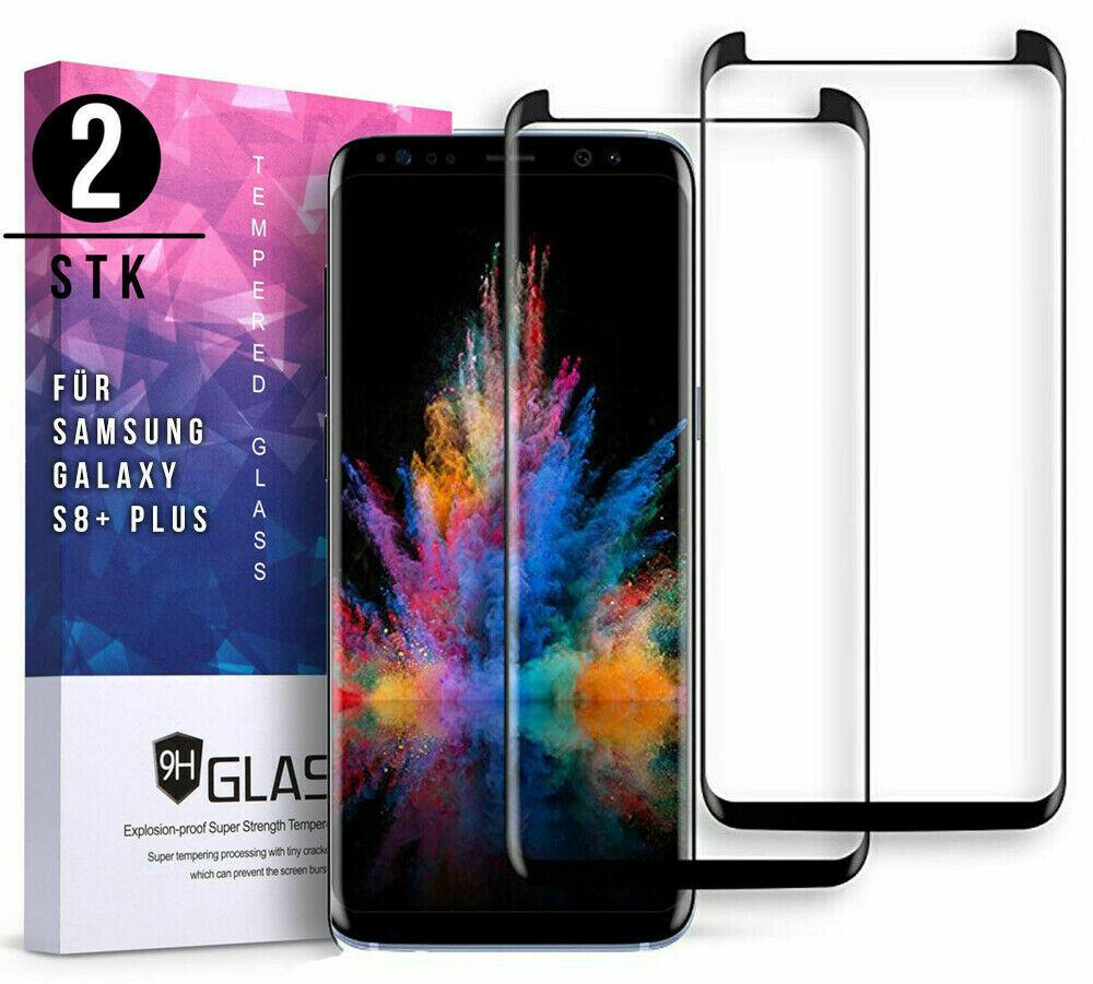 2x 3D Panzerglas für Samsung Galaxy S8 Plus