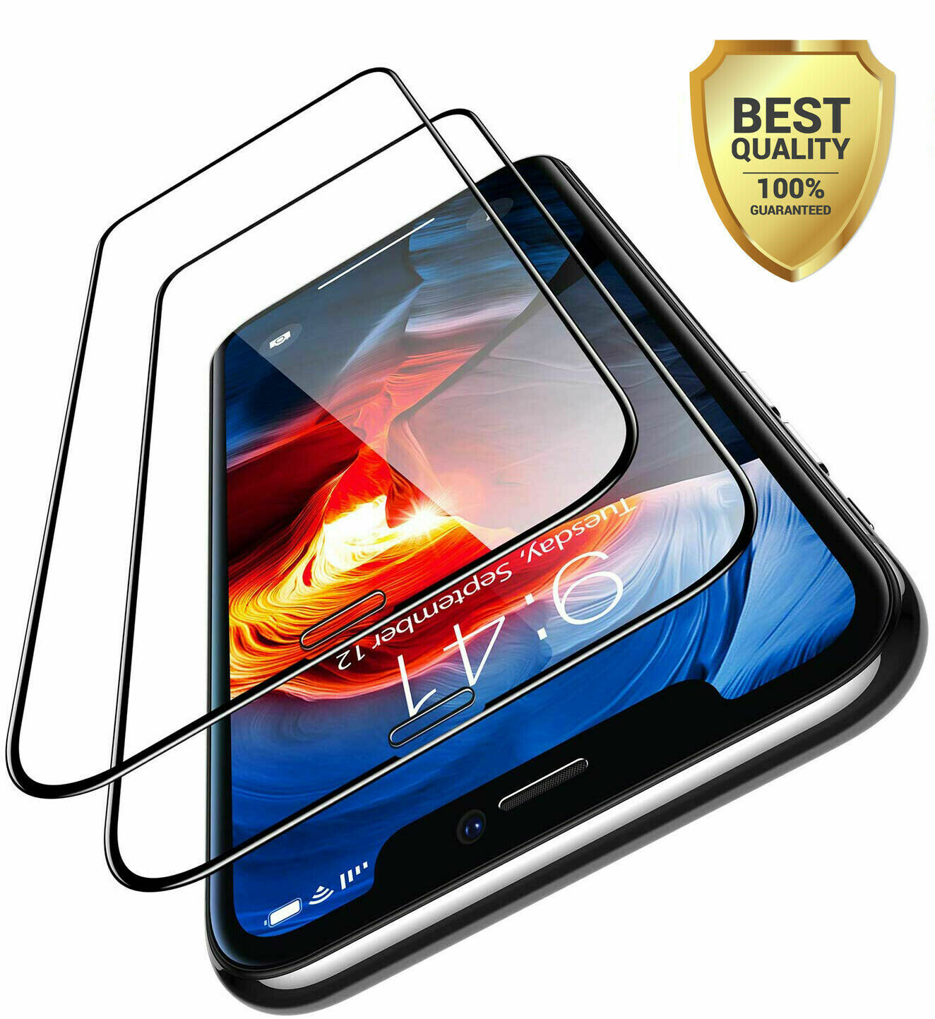 2x 11D Panzerglas für iPhone X XS | XR | XS MAX