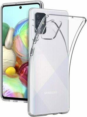 Samsung Galaxy A71 Liquid Hülle Durchsichtig Transparent Case