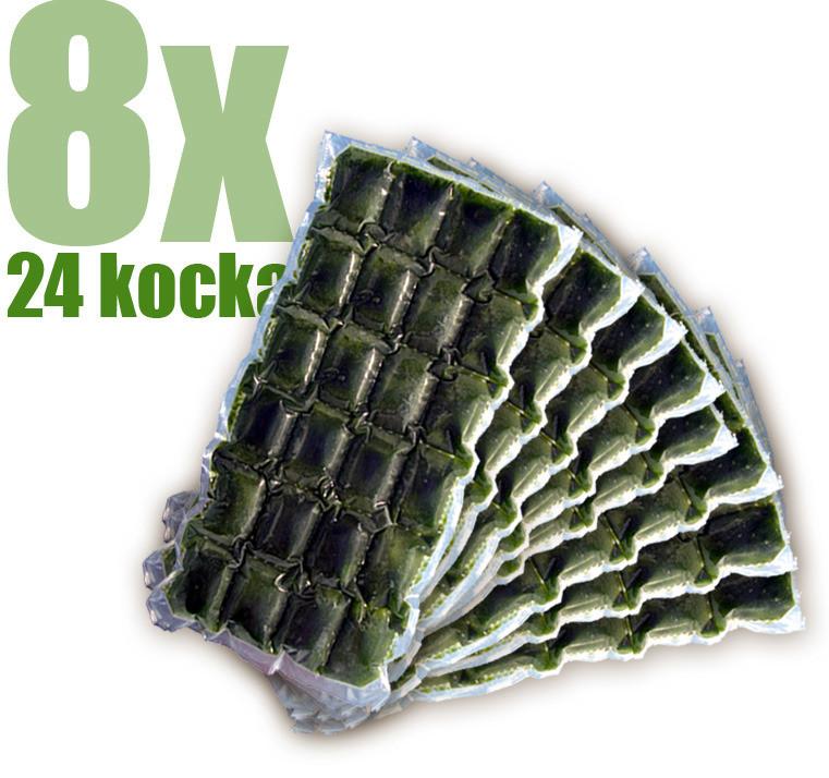 Gyorsfagyasztott bio búzafűlé 8x24 kocka