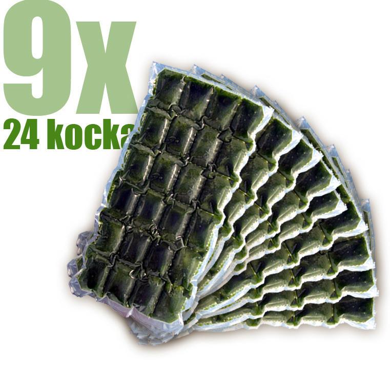 Gyorsfagyasztott bio búzafűlé 9x24 kocka