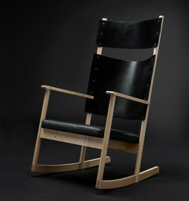ELSA rocking chair - black leather