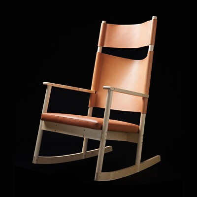 ELSA rocking chair - natural leather