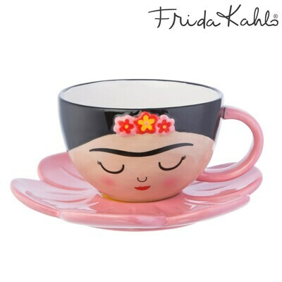 Tazza con piattino Frida Kahlo