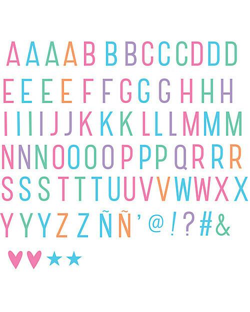 Kit aggiuntivo e accessori per lightbox - 85 Lettere e simboli Pastello