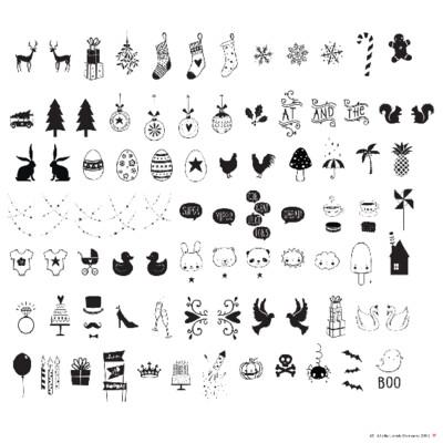 Kit aggiuntivo e accessori per lightbox - 85 Simboli Feste e Occasioni