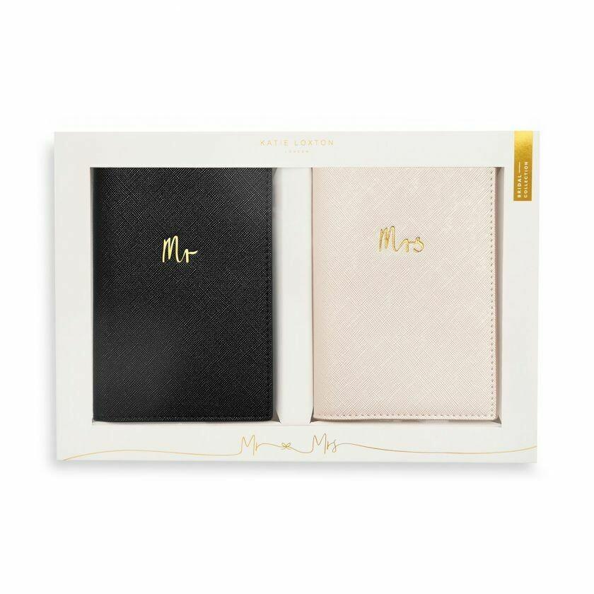 Set confezione regalo  Matrimonio portapassaporto Mr e Mrs - Katie Loxton