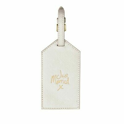 Etichetta bagaglio Luggage Tag bianco perlescente Just Married - Katie Loxton 215