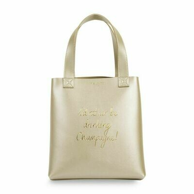 Borsa shopper oro  'I'd rather be drinking champagne' - Katie Loxton 428