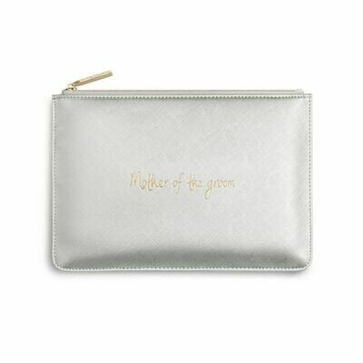 Pochette argento Mamma dello sposo - Mother of the groom - Katie Loxton 242