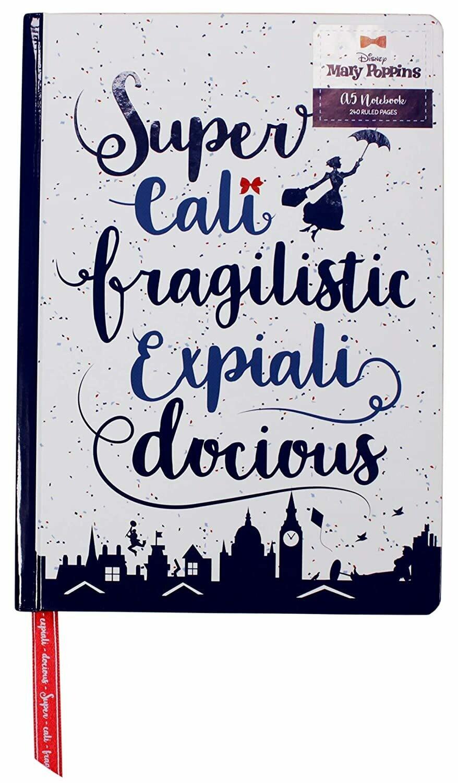 Quaderno A5 Mary Poppins - Supercalifragilisticexpialidocious